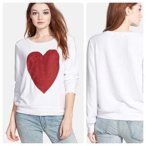 Wildfox 'Sparkle Heart' Baggy Soft Sweatshirt NWOT